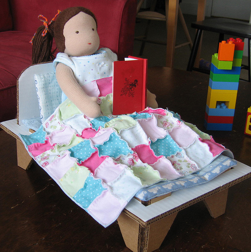 Upcycled Doll Bed
