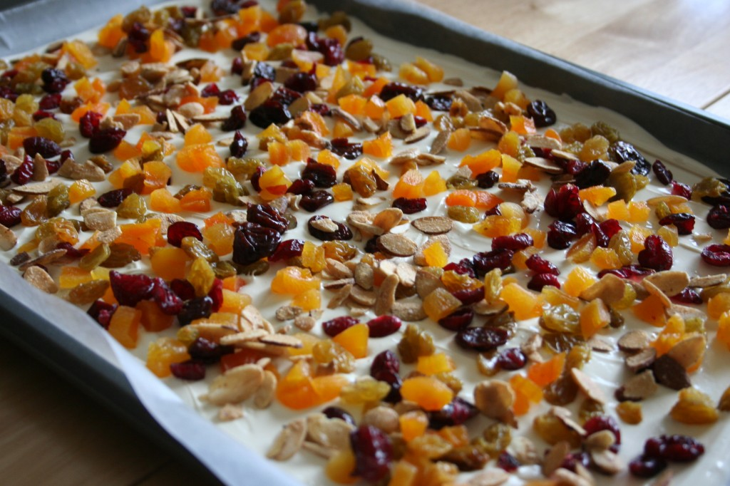 Cranberry Apricot Almond Bark