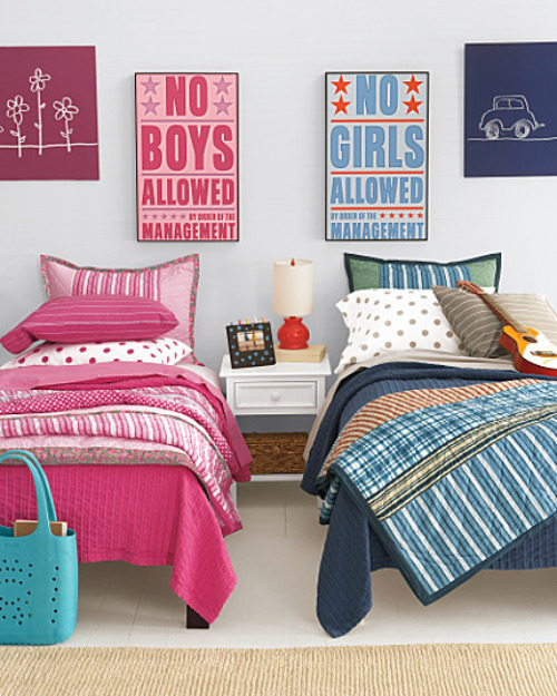 boy girl room