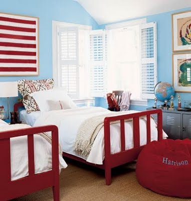 red blue kids room