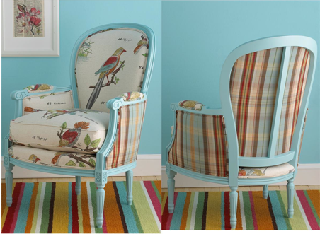 Birds of a Feather French Bergere Arm Chair