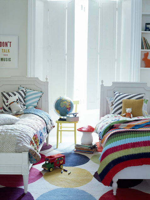 amazing colorful shared kids room