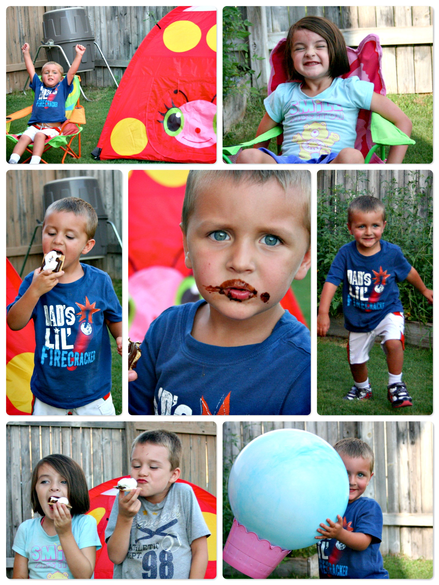 Camping In The Backyard With Toddlers :  ways to make hanging out together in the backyard even more fun
