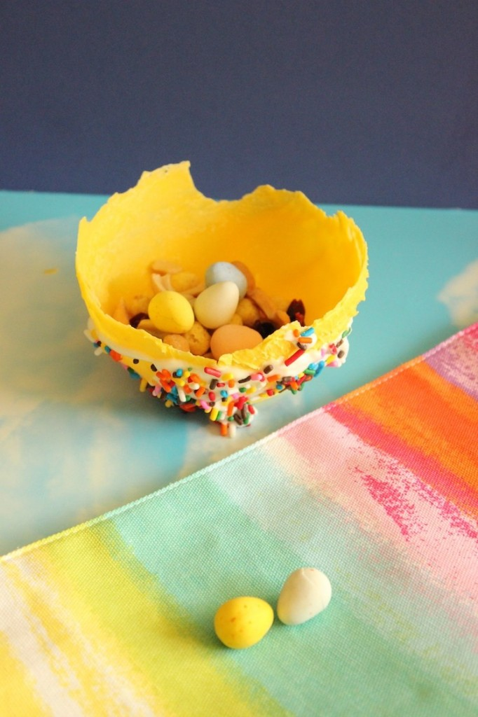 easter candy treat bowl