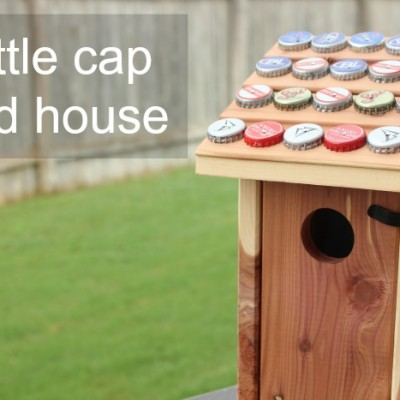 Father's Day Kids Craft: Bottle Cap Bird House