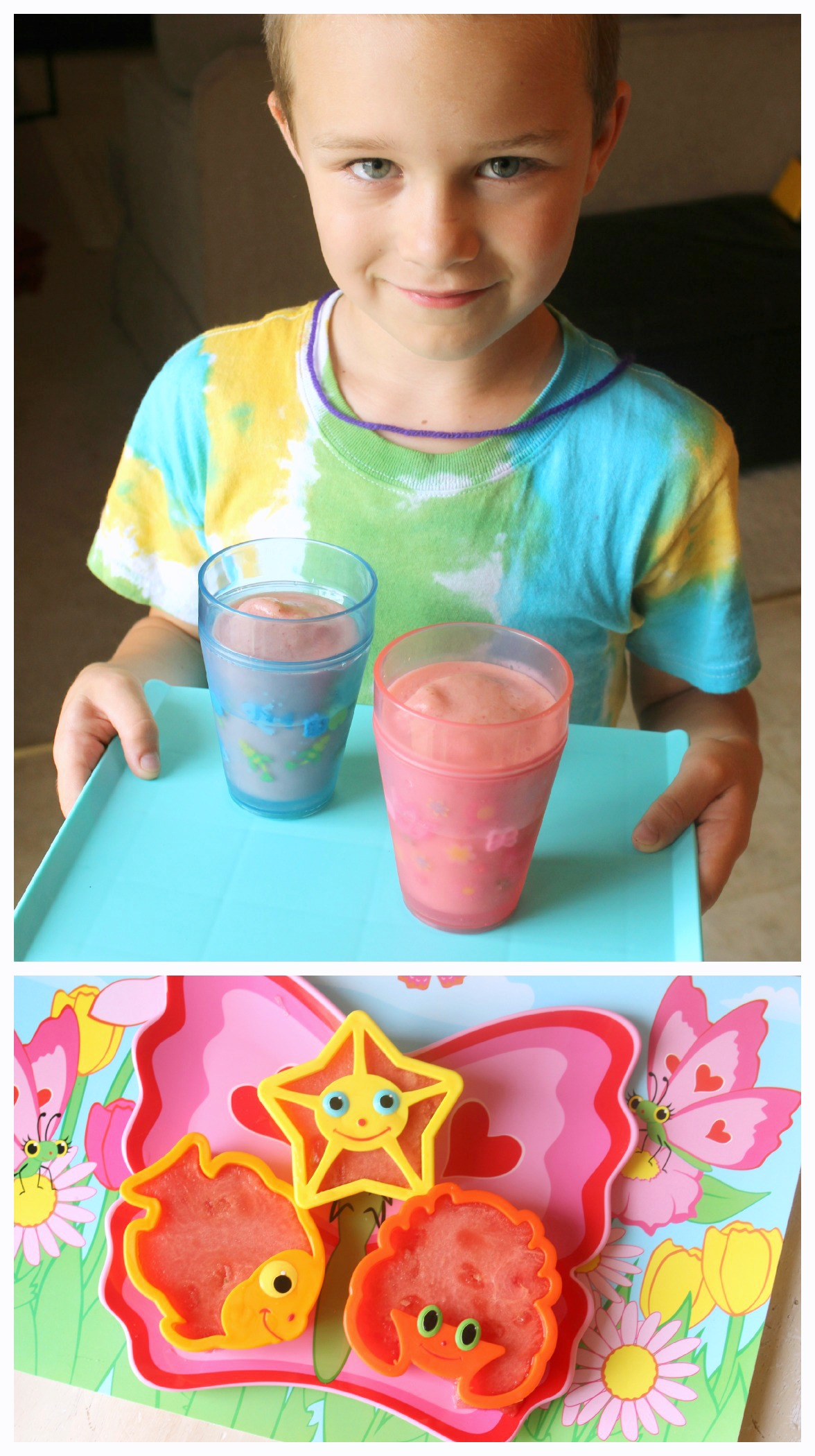 cool summer treats /// cherry berry smoothies & watermelon cookies