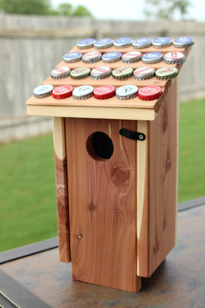 Craft Idea for Father's Day: Bottle Cap Bird House | KidsStuffWorld.com