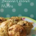 Gluten Free Banana Coconut Muffins
