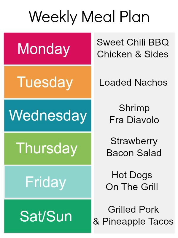 Summer Recipes: Weekly Meal Plan | Kids Stuff World