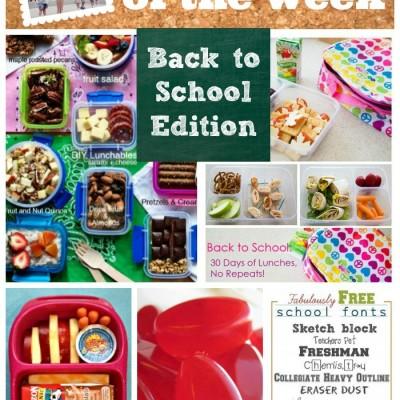 Back to School Lunch Ideas, DIYs & Fun Fonts