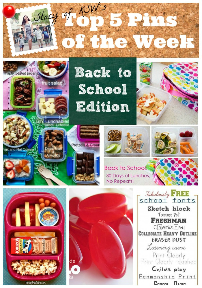 The most popular back to school lunch ideas on Pinterest right now - plenty of healthy, sandwich alternatives. Many gluten free and nut free as well, perfect for kids who have allergies or have friends who do.