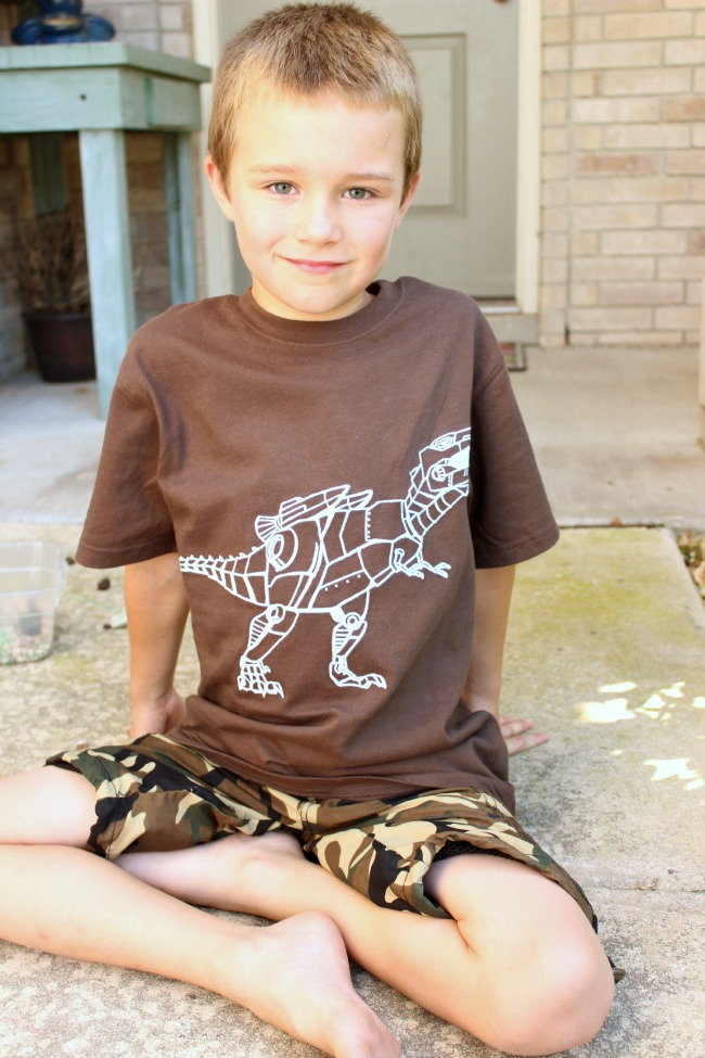 Back to School Stuff for Boys - Robot Dino Tee from For Your Boy