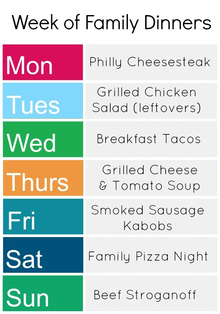 Here's a week of family dinners -- there's something here for everyone!