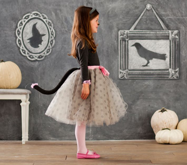 Loving the sock hop feel of this #PBKHalloween kids kitty costume
