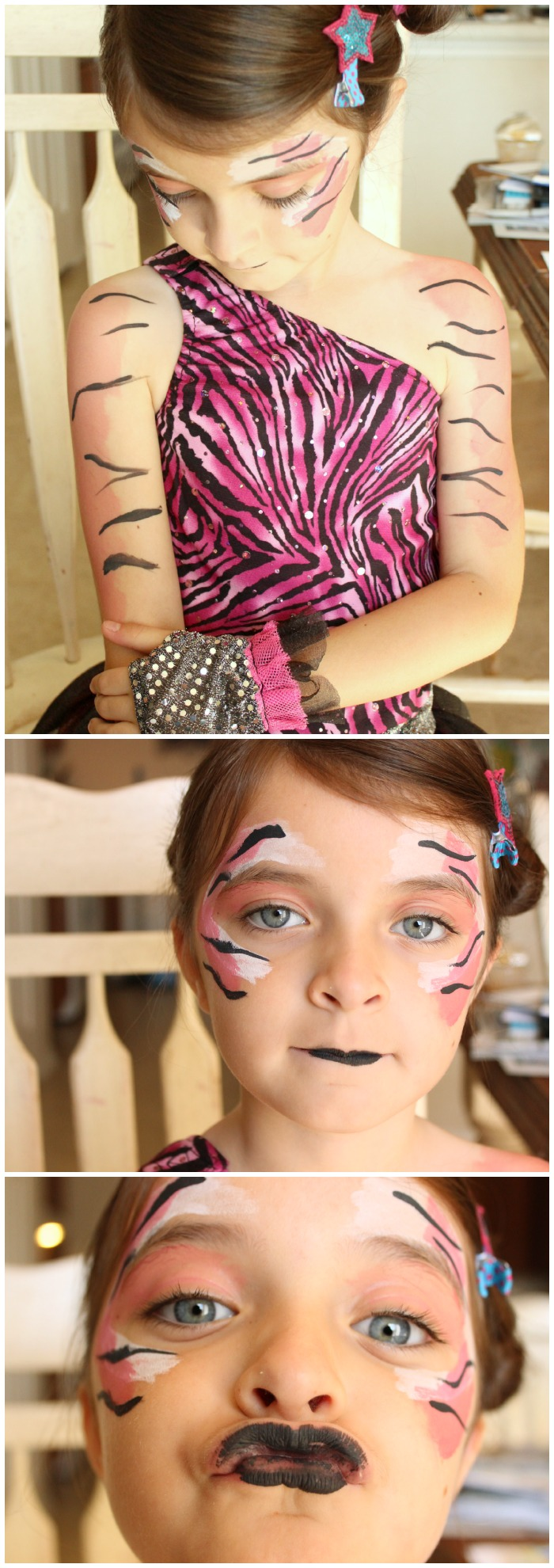 Fun with facepaint: Three colors of face paint equals one awesome costume