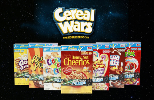 Cereals with Star Wars pens