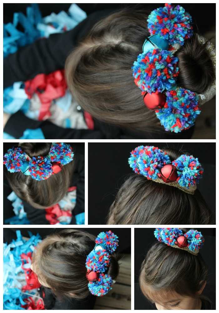 How to make a pom pom headpiece