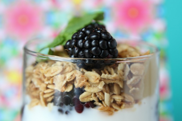 Mmm, blackberries and granola