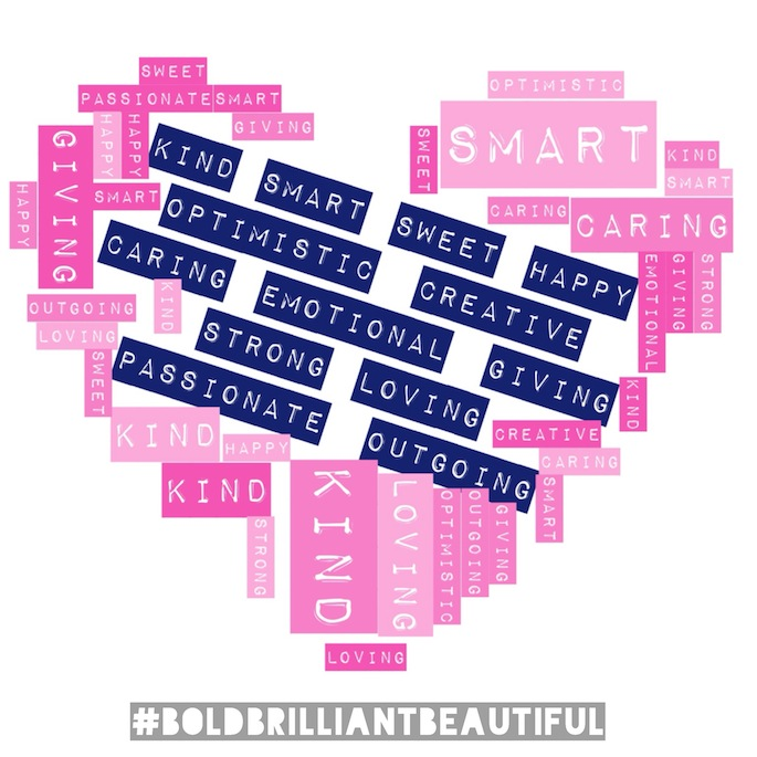 February Challenge: Make an I AM list of all the qualities that make you #boldbrilliantbeautiful
