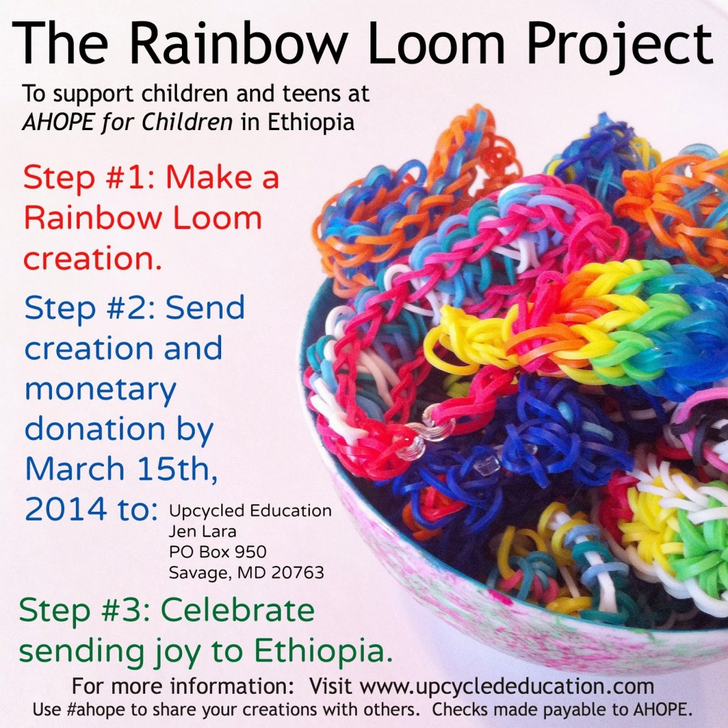 The Rainbow Loom Project - Make bracelets and send them to children in Africa!