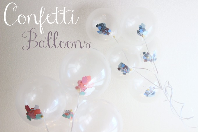 Clear balloons filled with themed confetti for a party or shower -- genius!