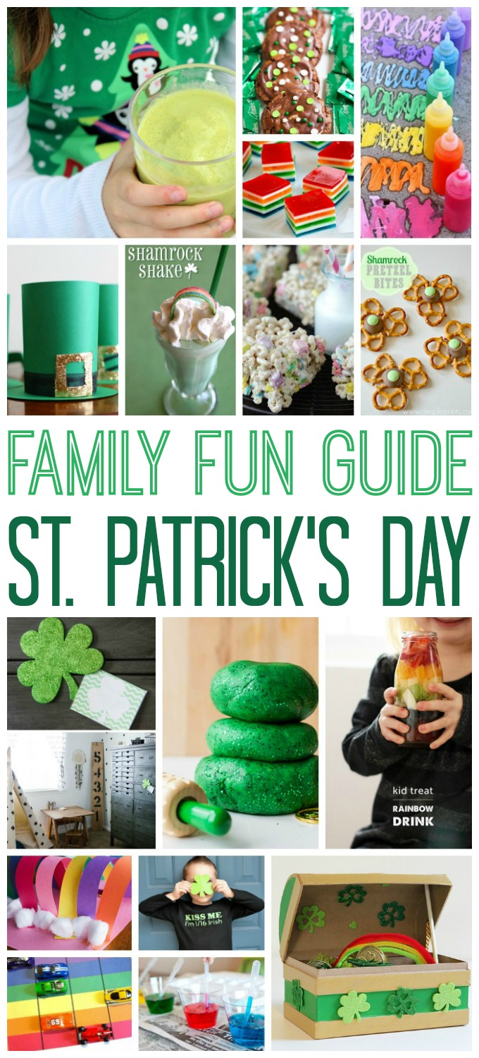 So many great ways to celebrate St. Patrick's Day and have fun as a family!