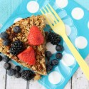 Healthy Baked Oatmeal Recipe with Fresh Fruit