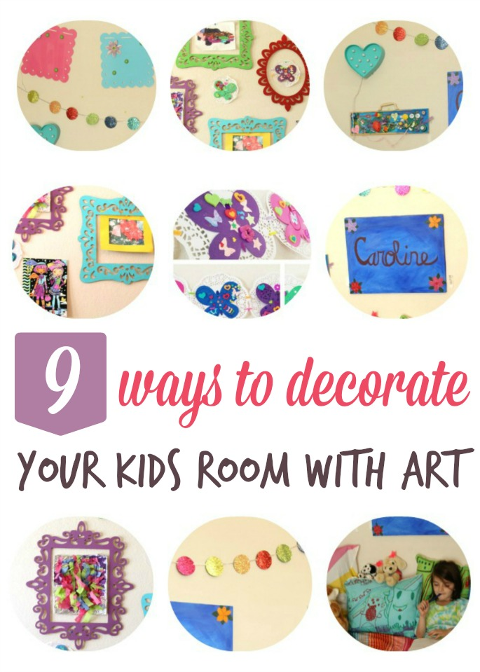 Decorate your kids room on the cheap with these fun art projects