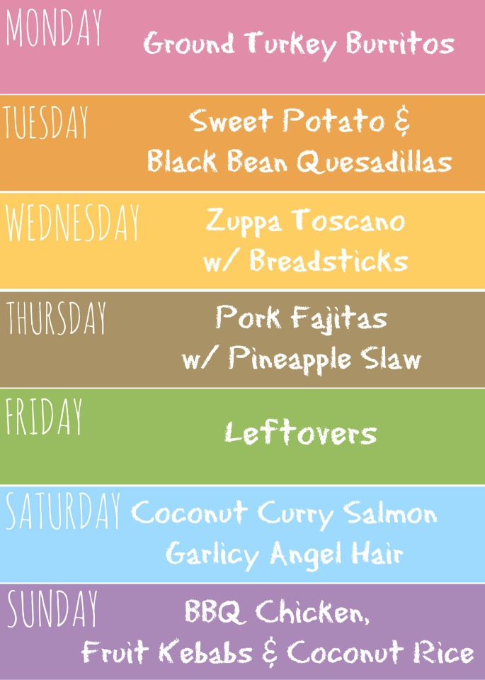 Great tropical flavors the whole family will love in this weekly meal plan