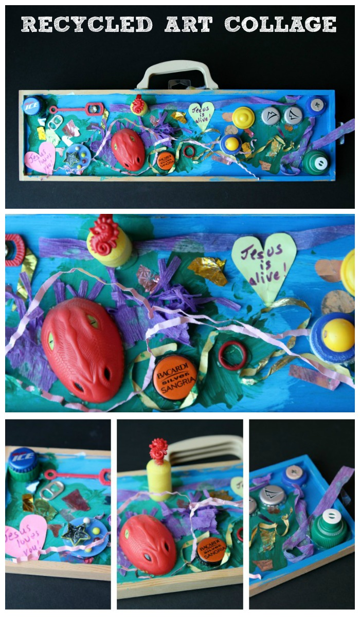 Recycled Art Collage -- great Earth Day project!