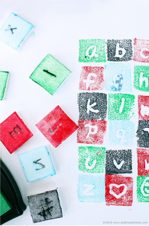 Design for Kids | Learn about fonts and design your own font to stamp with!