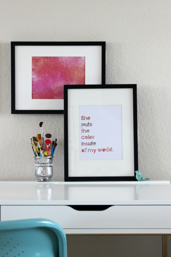 Watercolor Wall Art simple diy watercolor wall art -