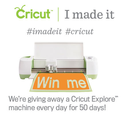 Want to win a new Cricut Explore cutting machine? Find out how here
