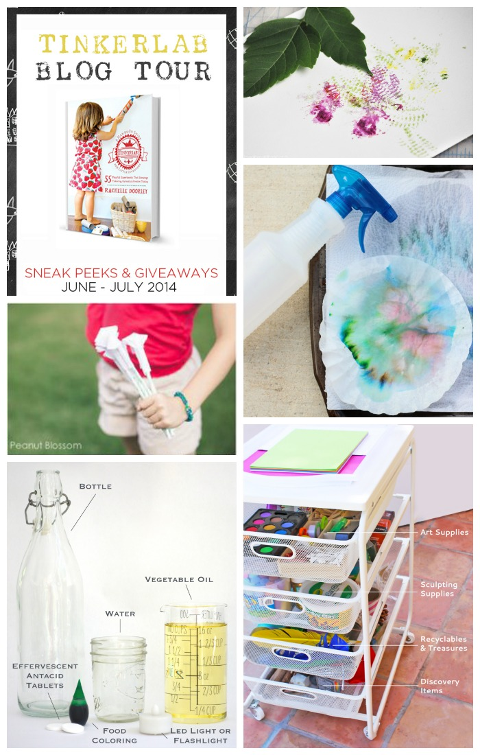Sneak peeks and giveaways of the new TinkerLab book happening on these blogs <-- Love this book!