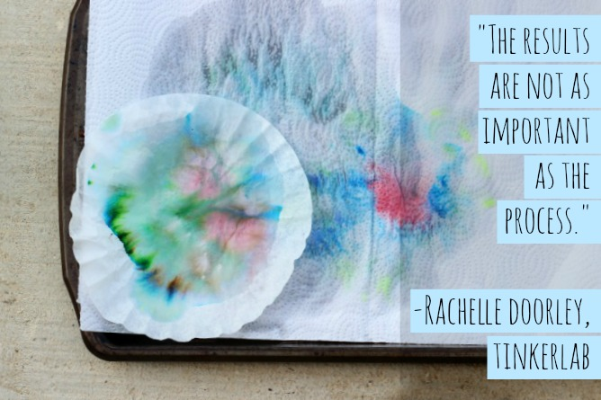 """The results are not as important as the process."" Rachelle Doorley, Tinkerlab 2014"