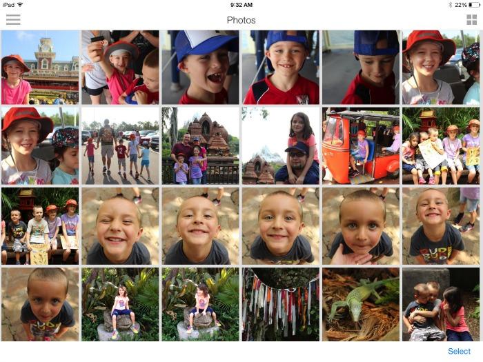 Photo Album from Lyve storage device