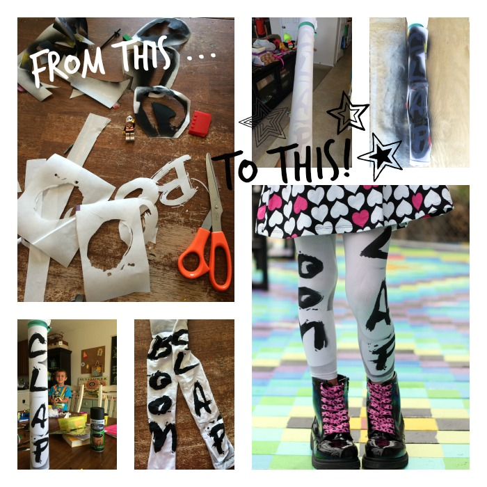 Make you own tribal graphic print leggings using freezer paper stencils