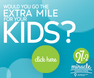 Join us in the #MiracleMarathon, just one mile a day. A marathon at your own pace.