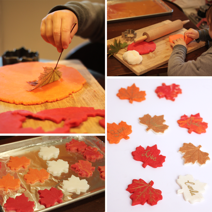 Here's a great DIY fall craft project to do with the kids, perfect place setting for the Thanksgiving table too!