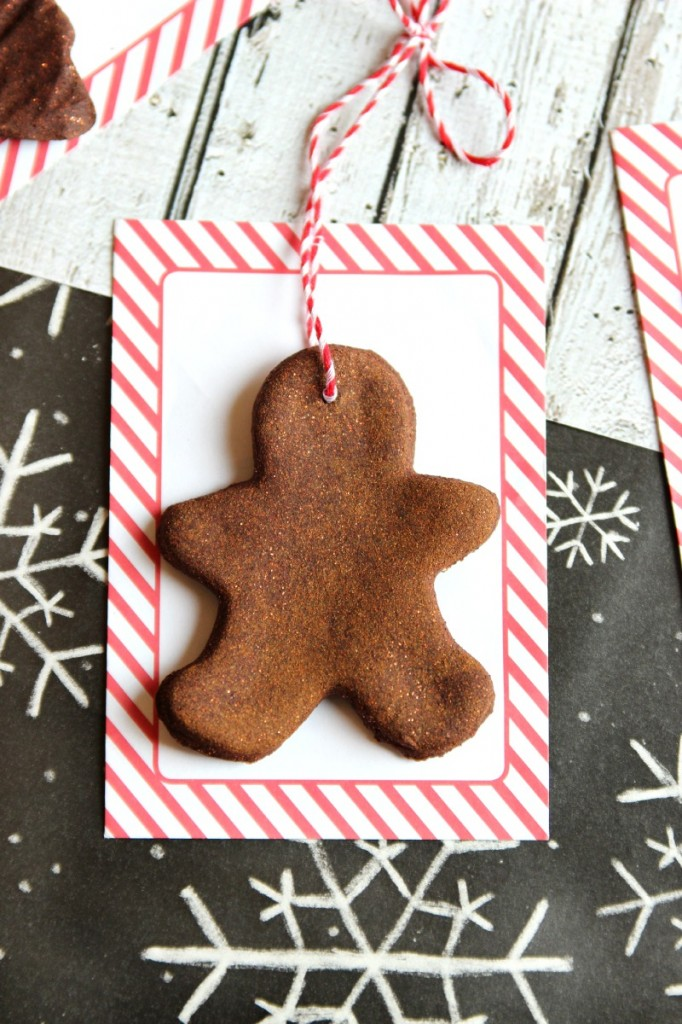 These handmade cinnamon ornaments are such a sweet gift to give and fun thing to do with the kids over the holidays
