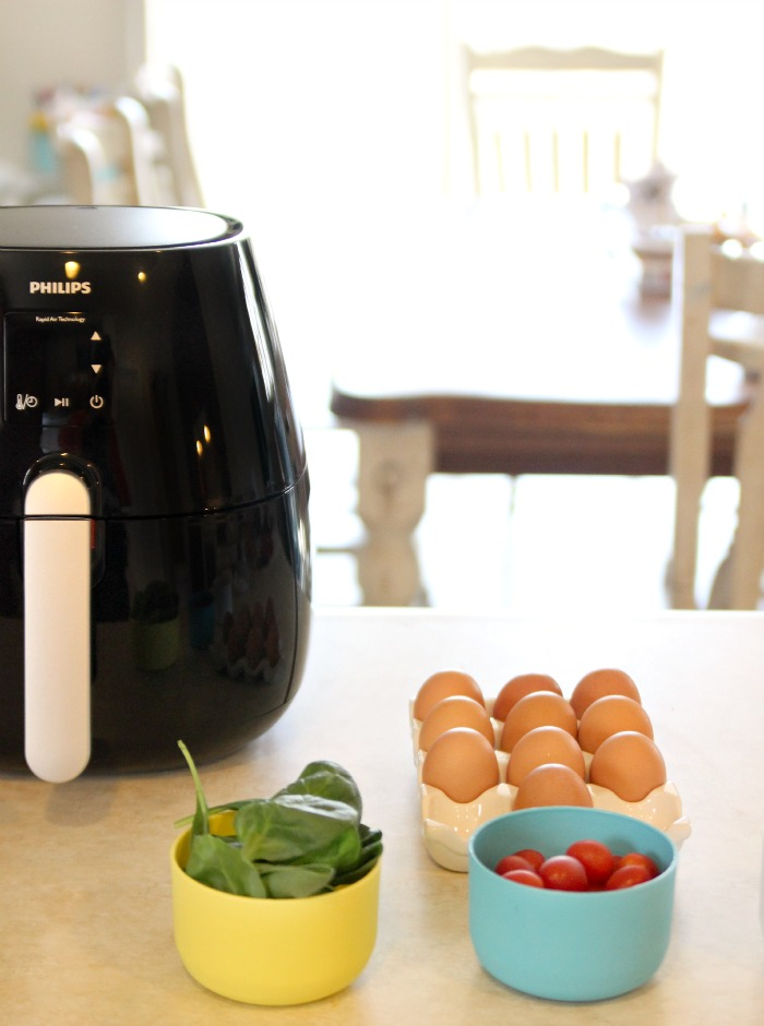 The Phillips AirFryer makes cooking frittatas a breeze. Just pop one in and forget it until it's done