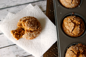 These gingerbread muffins are a new favorite. Gluten free too!