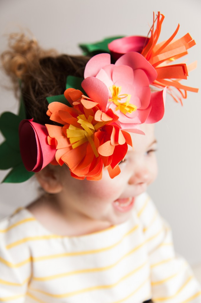 Oh my gosh! The sweetest little paper flower crowns you ever did see, you'll never guess what they're made of or how simple they are to make on your own -- love this!
