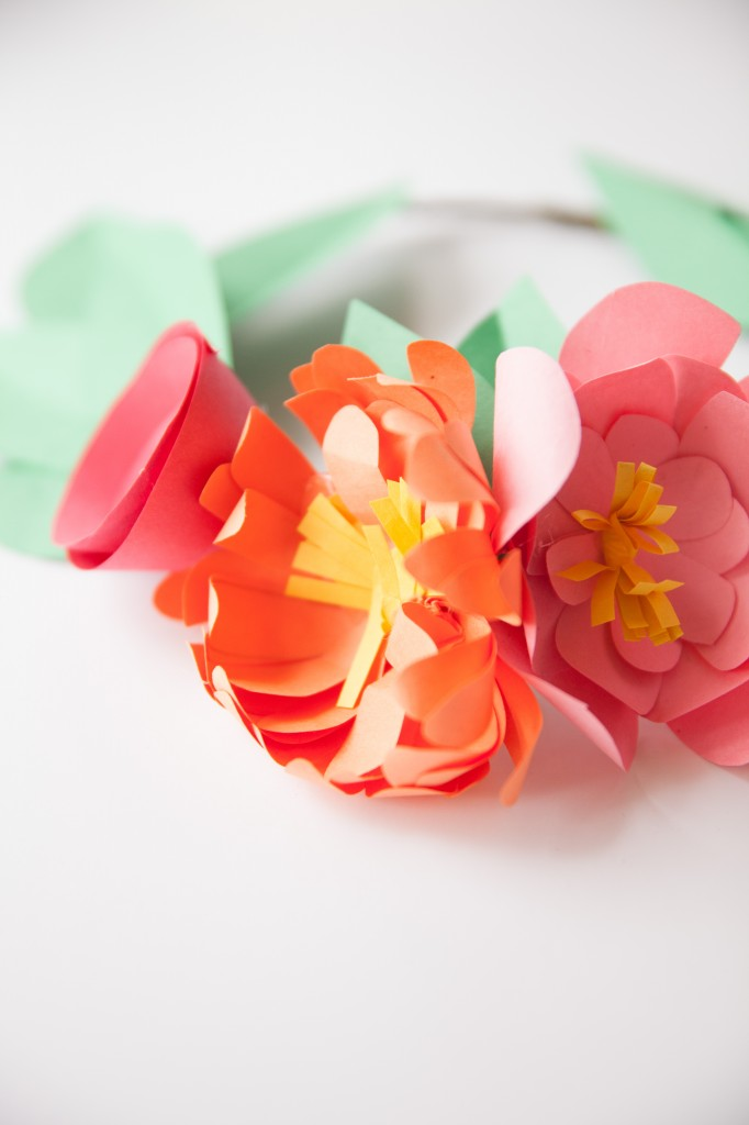 the prettiest paper flower crowns you ever did see! You won't believe how easy they are, kids can even make them