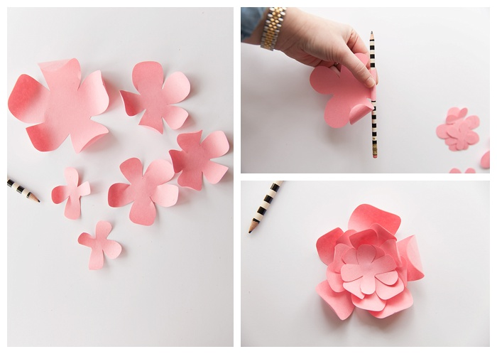 great tutorial on how to make paper peony flowers