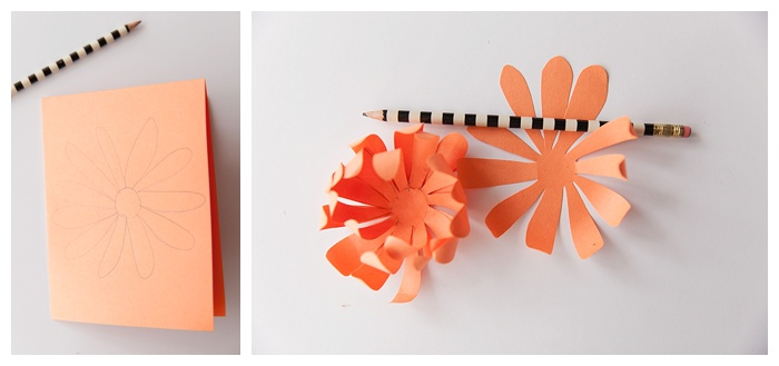 photo tutorial for making paper flower mums
