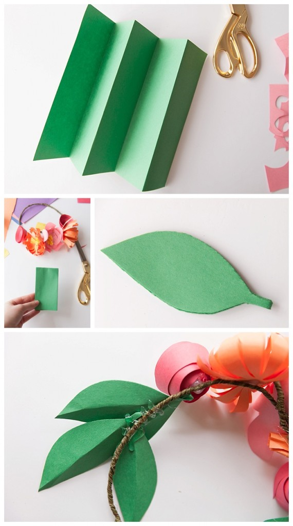 how to quickly make your own leaves out of construction paper