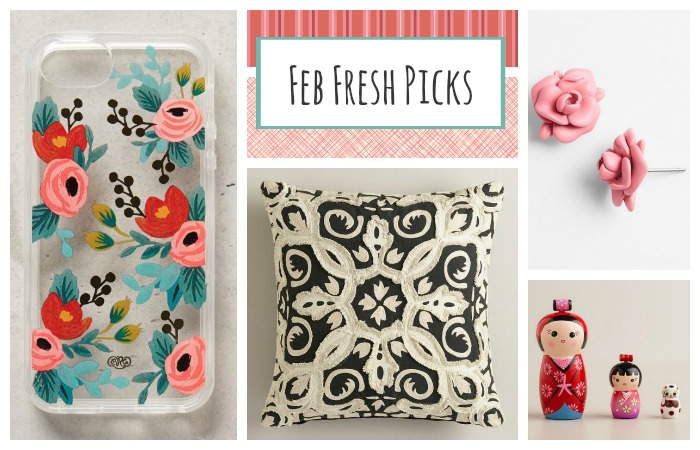 A collection of fresh finds for the month of February. Gifts for friends, family, your kids and even a few fun picks for me too!