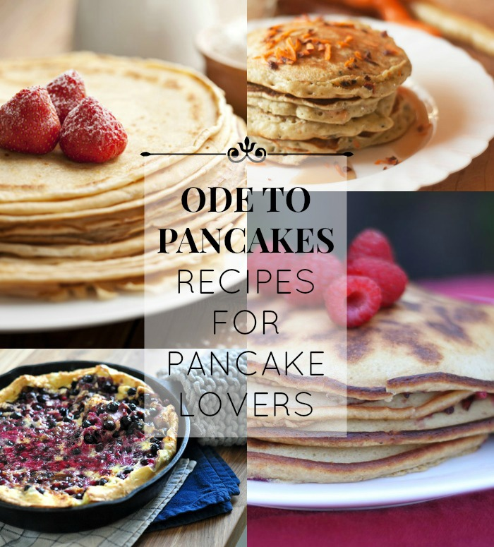 All kinds of pancake recipes! This is a great list to keep on hand, lots of ideas I've never tried