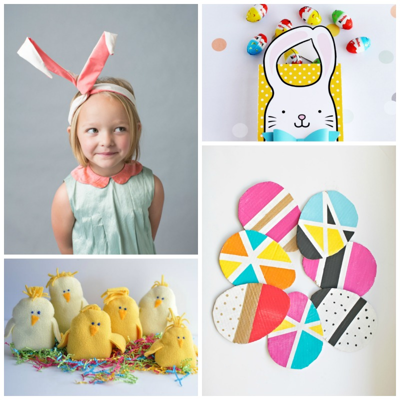 DIY bunny ears, printable goody bags, fleece chicks and more ... there are so many great Easter ideas in this post!
